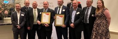 ARR team accepting Engineers Australia President's Prize